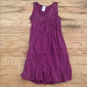 Adidas solid purple clima cool tennis dress